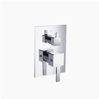 Two Way Thermostatic Valve and Trim Set - Square