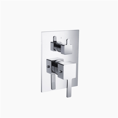 Three Way Thermostatic Valve and Trim Set - Square