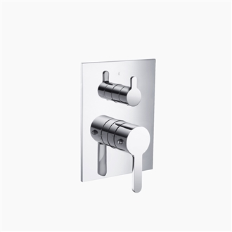 Three Way Thermostatic Valve and Trim Set - Round