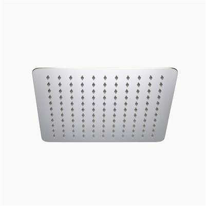 "Square Ultra Thin Shower Head 10"" SS"