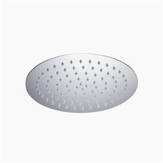 "Round Ultra Thin Shower Head 10"" SS"