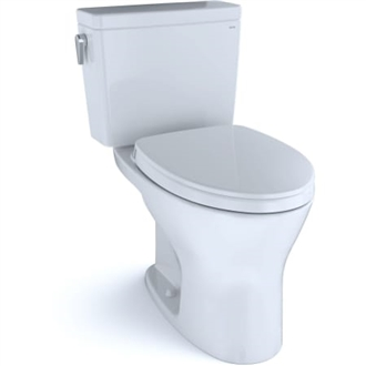 Drake® Closed Coupled Two-Piece Toilet, 1.28/0.8 GPF, Elongated Bowl