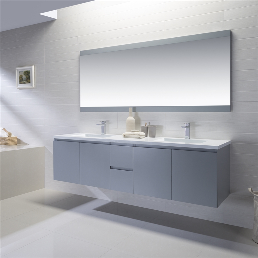 Adams 72 Inch Vanity With Solid Surface