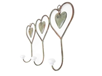 Trio heart wall coat hook