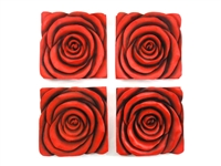 Rose panel set of 4 wall art