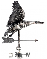 SK10106 - Stainless Steel Weathervane - Flying Duck