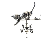 SK10110 - Stainless Steel Weathervane - Cat & Mouse