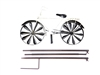 Bike Wind Spinner and Garden Stake and Windmill Wheels