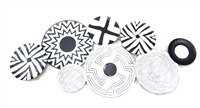 SK10219 - B&W Abstract Discs wall art