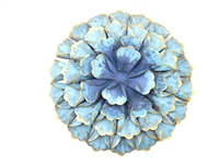 SK10223 - Teal Flower wall art