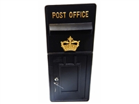 Royal mail wall mounted cast metal post box