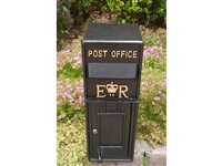 Large cast metal post box