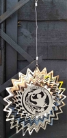 Stainless steel garden wind spinner