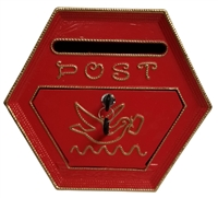 wall mounted cast metal post box