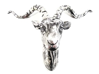 Ram stag head wall art