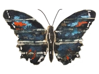 Blue butterfly wood wall art