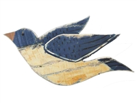 Flying bird wood wall art