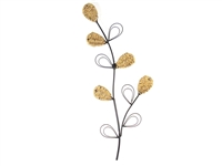 Rope stem metal wall art