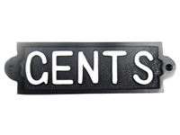 Cast iron sign, 'GENTS'