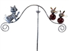 Cat and mice mouse garden wind spinner