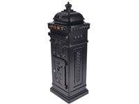 Large freestanding cast metal post box