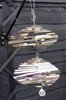 Stainless steel garden wind spinner with crystal