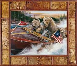 "Bear Craft canvas print by Marilynn Mason, 30"" x 40"""