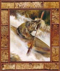 Bear in Kayak by Artist Marilynn Mason