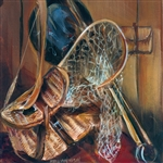 Creel and Net by artist Marilynn Mason