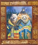 "Standing Bear Lodge canvas print by Marilynn Mason, 30"" x 40"""