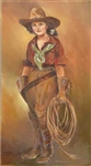 Cowgirl with Lasso by artist Marilynn Mason