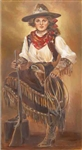 Cowgirl with Rifle by artist Marilynn Mason