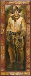 Cowboy with Yellow Shirt by artist Marilynn Mason