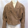 ADA VINTAGE LEATHER FRINGE JACKET