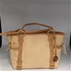 Giani Bernini Cream Braid Detail Handbag