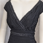 Tadashi Beaded Ruffled 1990's Vintage Women's Dress