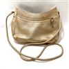 Fossil Gold Leather Crossbody Purse