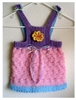 Toddlers Pinafore Dress Knit