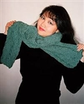 Dancing Flames Reversibly-Textured and Cabled Scarf