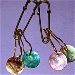 Abalone Stitch Markers & Holder