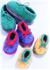 Crocheted Felt Slippers