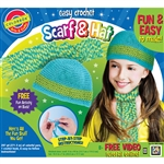 Easy Crochet Scarf & Hat Kit