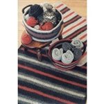 Crocheted Felt Rug and Basket