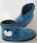 Crocheted Felt Boot Slippers