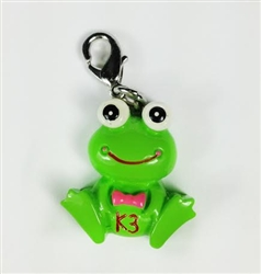 Sassy Skein: Freddy the Frog Zipper Pulls