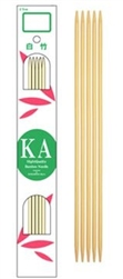 KA Bamboo Double Points 6""
