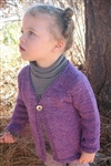 Girl's One Button Cardigan