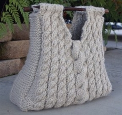 Two Sticks Cabled Knitting Bag