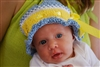 Itsy Bitsy  Baby Boy Infant Hat and Booties