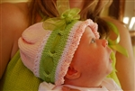 Itsy Bitsy  Baby Girl Infant Hat and Booties Kit